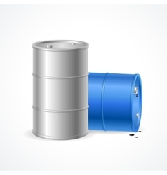 Oil Barrel Drum vector image vector image