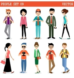 Set of modern people men and women vector image
