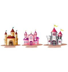 Three different castles vector