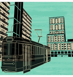 urban tram vector image vector image