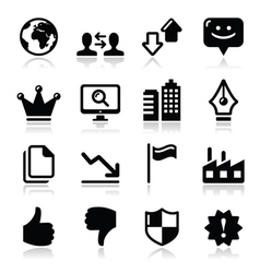 Web internet icons set - vector image vector image