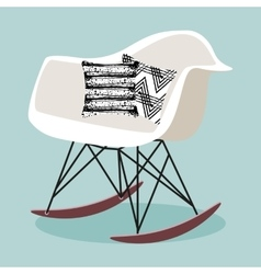 with rocking chair vector image vector image