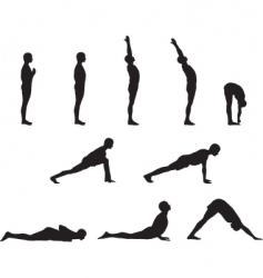 yoga basics vector image vector image