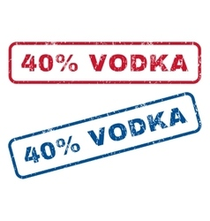 40 percent vodka rubber stamps vector