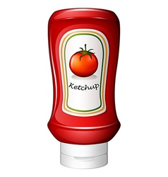 A ketchup inside the red bottle vector image