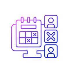 Absence calendar gradient linear icon vector