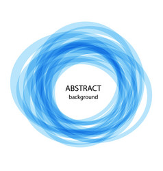 Abstract background with blue circles blue line vector