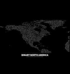 Abstract binary north america map vector
