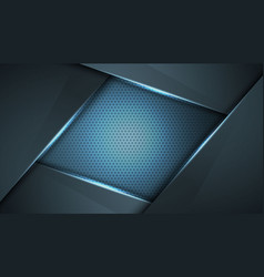 abstract black blue frame sport design concept vector image