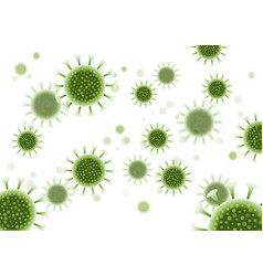 abstract virus cells background - covid19 19 vector image