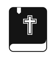 Bible single simple icon vector