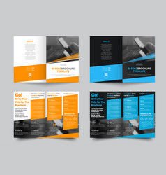 Bifold brochure for business and advertising vector