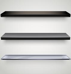 Black shelves vector