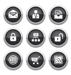 Black web buttons vector