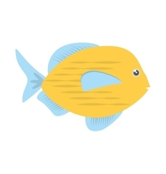 Blue and yellow fish variety ocean vector