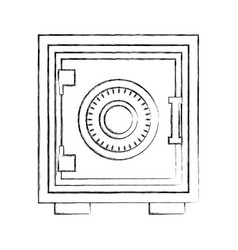 box money safe box security vector image