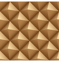 Brown wood triangles seamless pattern vector