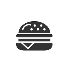burger sign icon in flat style hamburger on white vector image