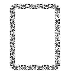 calligraphy ornamental decorative frame vector image