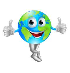 Cartoon globe mascot man vector