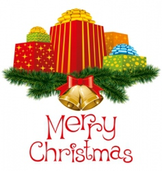Christmas gifts vector image vector image