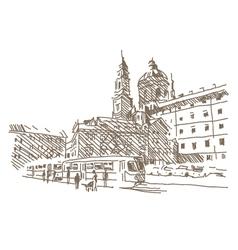 City drawing vector image