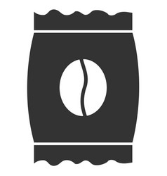 coffee bean pack flat icon vector image