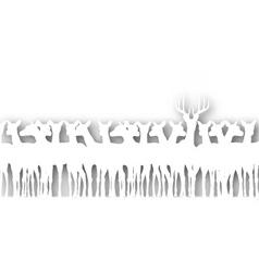 deer cutout vector image
