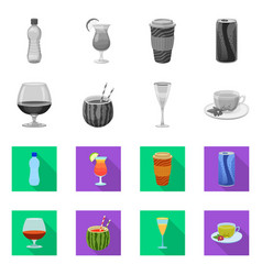 Drink and bar logo set of vector
