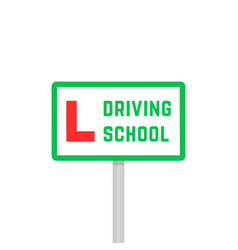Driving school like learner driver plate vector