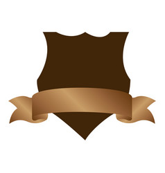 Emblem heraldic with label and brown background vector