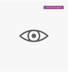 eye icon simple vector image