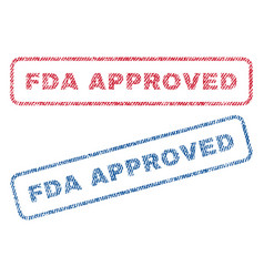 fda approved textile stamps vector image