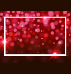 Frame template design with red light vector