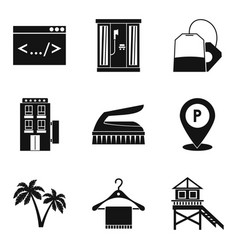 Gatekeeper icons set simple style vector