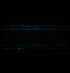 glitch digital template no signal distortion vhs vector image