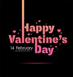 Happy Valentines Day sign typography vector image