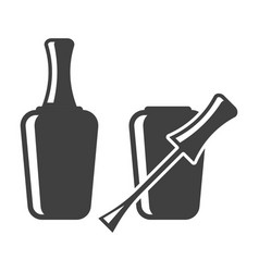 icon of nail polish open and closed bottle on vector image