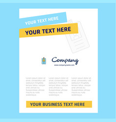 id card title page design for company profile vector image