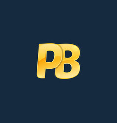 initial letters pb p b with logo design vector image