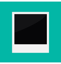 Instant photo in flat design style Template vector