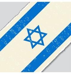Israeli grunge flag vector image