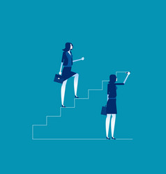 Leader is climbing career ladder concept business vector