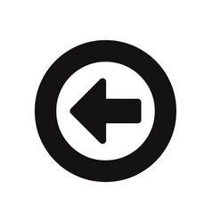 left arrow button icon vector image