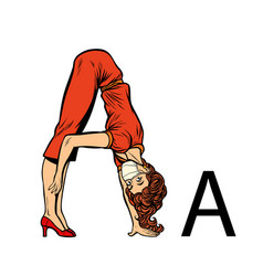 Letter a office alphabet people as letters vector