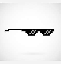 Life thug pixel glasses vector
