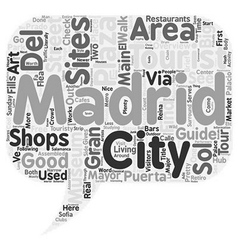 Madrid City Guide A Quick Overview Of Madrid s vector