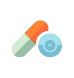 medical pills - healthcare icon - medicine vector image