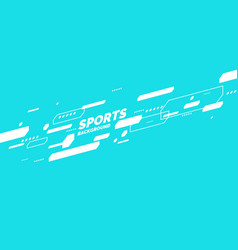 Modern colored poster for sports vector