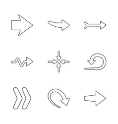 Nine new simple arrows vector